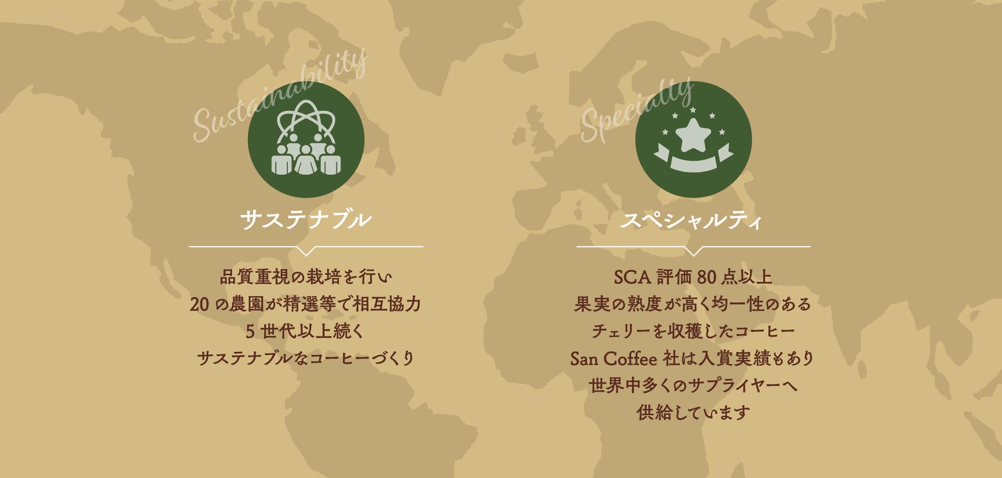 サステナブル/スペシャルティ